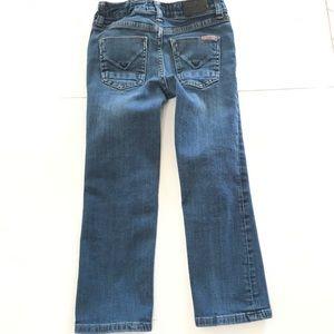 Hudson denim youth girls straight leg jeans 6